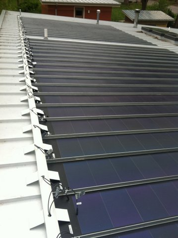 Daca Roofing Solar On Liberty Hall Sunflower Metal